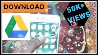 How to Download Photo / video / data from Google Drive in iPhone Gallery