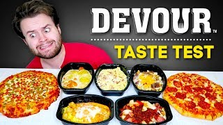 I tried every DEVOUR meal I could find... - Frozen Food Taste Test! Pizza Review