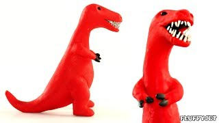 T-Rex Dinosaur Animation || Play Doh Stop Motion