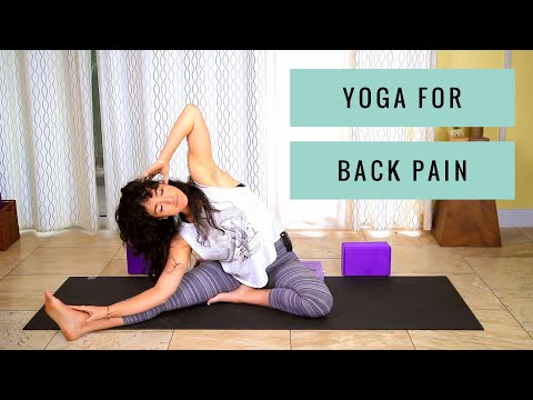 Yoga for Back Pain - Low Back, Upper Back, & Sciatica Pain Relief Stretches for Beginners