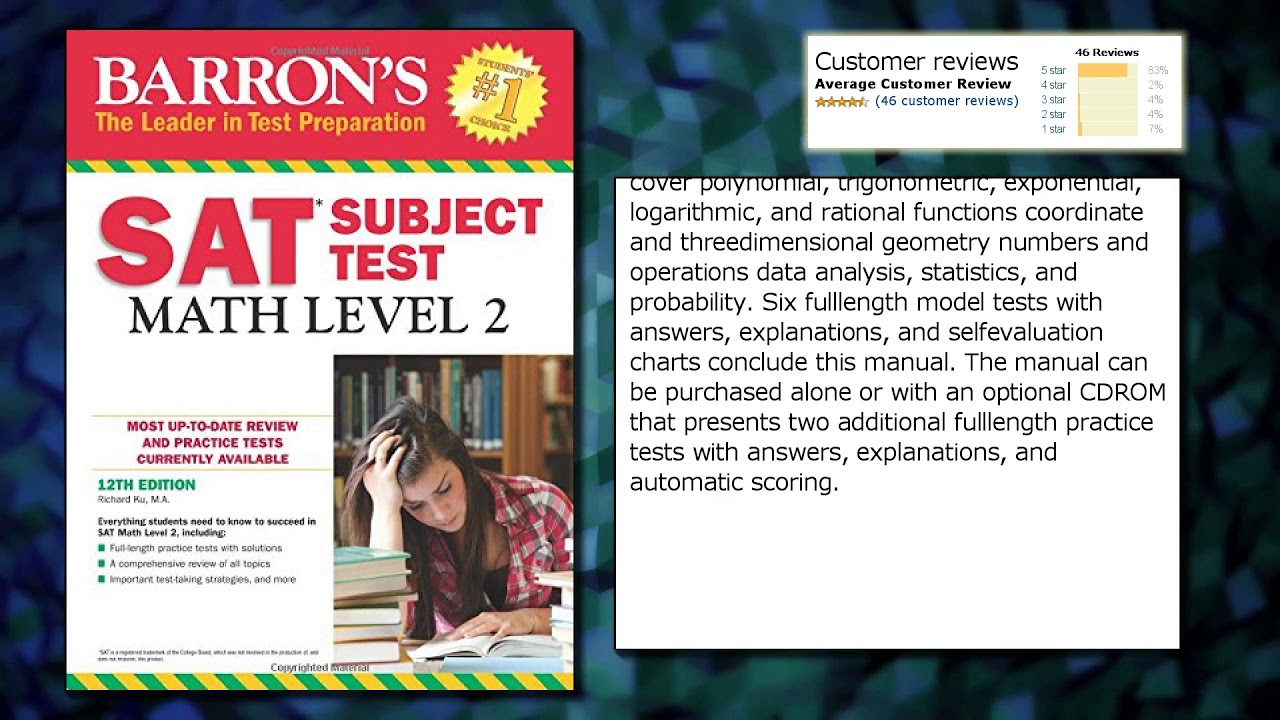 Workbooks kaplan sat math workbook : Barron's SAT Subject Test: Math Level 2, 12th Edition - YouTube