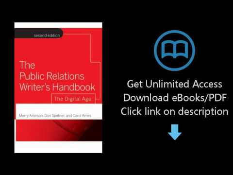 Download The Public Relations Writer's Handbook: The Digital Age PDF