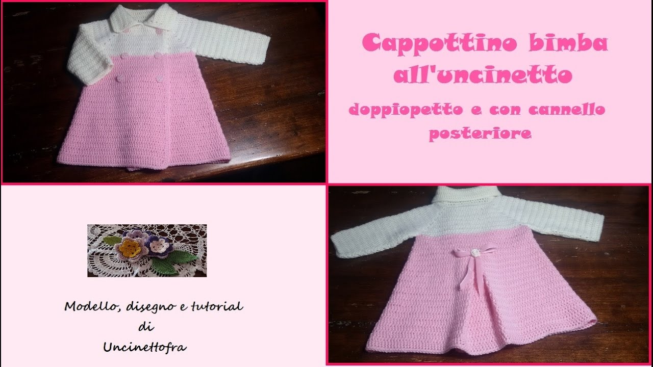 Cappottino Per Bimba Alluncinetto Tutorial Parte 13 Youtube