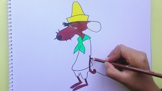Dibujando y pintando a Lento Rodriguez (Looney Tunes)- Drawing and painting to Slow Rodriguez