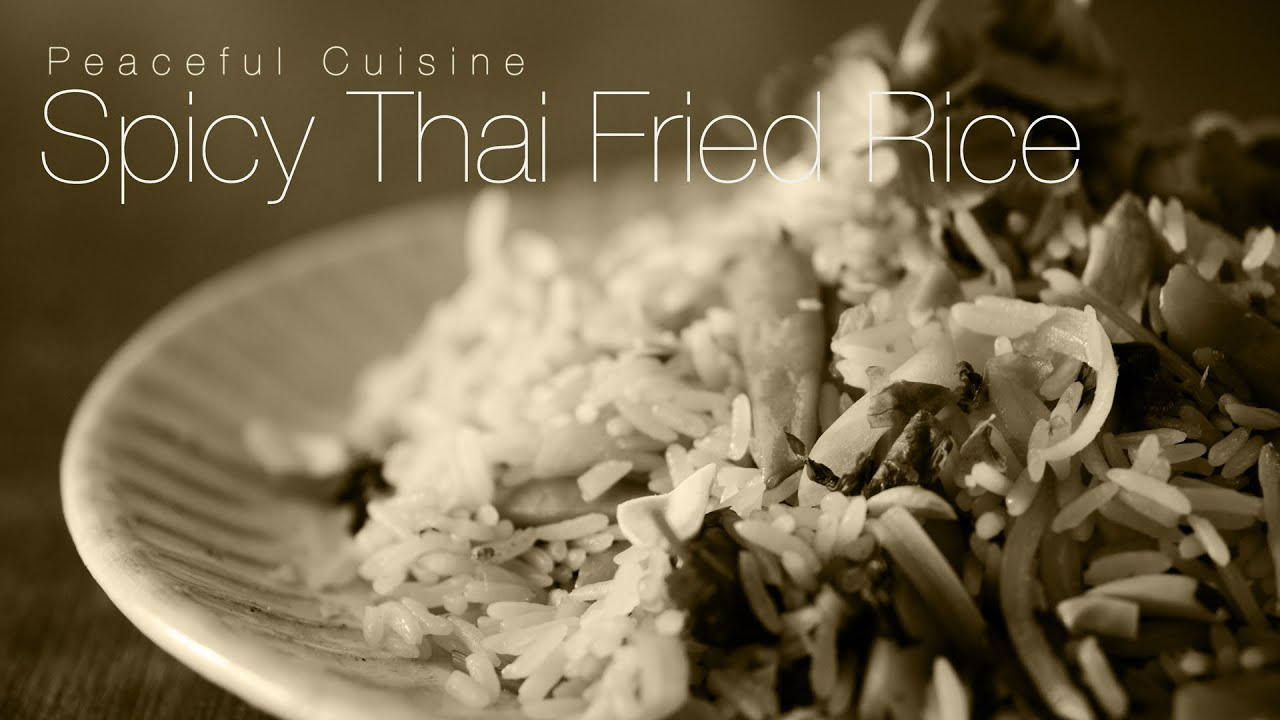No music how to make spicy thai fried rice youtube youtube premium ccuart Image collections