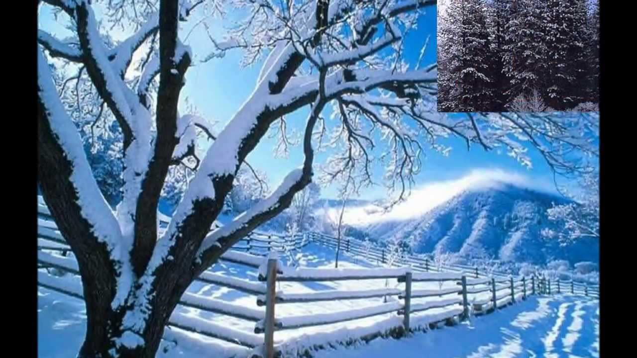 Berühmt Fond d'écran de paysage d'hiver - YouTube AD46