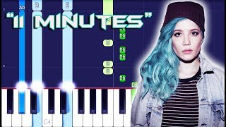 YUNGBLUD, Halsey - 11 Minutes ft. Travis Barker Piano Tutorial EASY (Piano Cover)