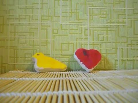 Птичка и сердечко из соленого теста