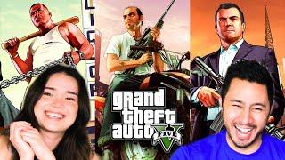 GRAND THEFT AUTO 5    GTA 5  LIVE STREAM   LETS PLAY   Jaby Koay & Captain Kirk