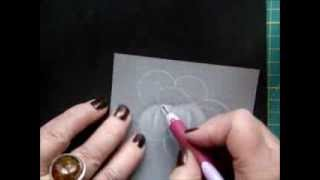 HOW TO SHADE A FLOWER IN PARCHMENT CRAFT by Ewa Maria Piechota