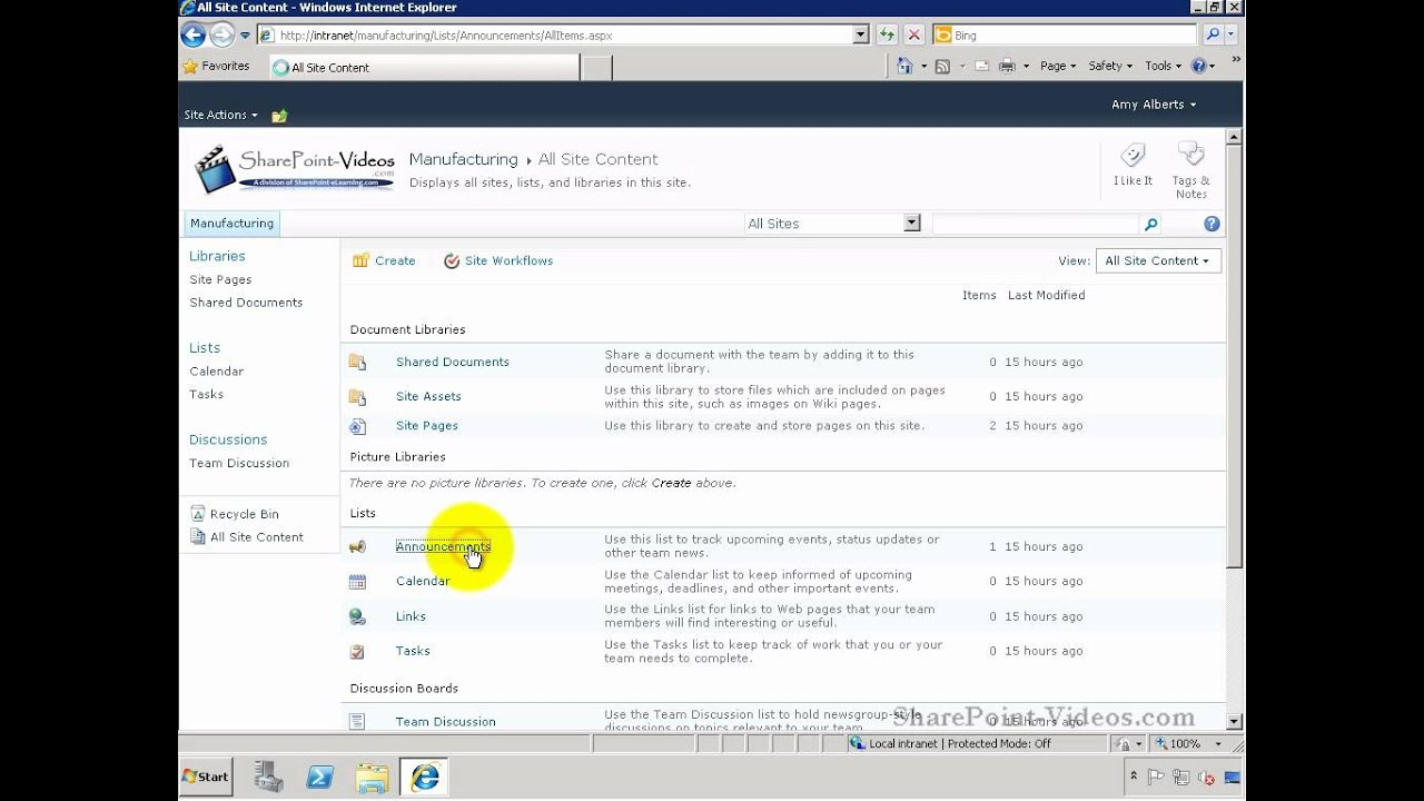 Show link to a SharePoint List/Library in Quick Launch