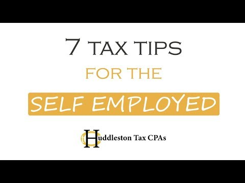 7 Tax Tips For The Self Employed  | Small Business Webcast