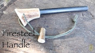 Antler Ferro Rod Handle. Fitting a New Handle to a Firesteel.