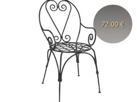 fauteuil en fer forg italie youtube. Black Bedroom Furniture Sets. Home Design Ideas