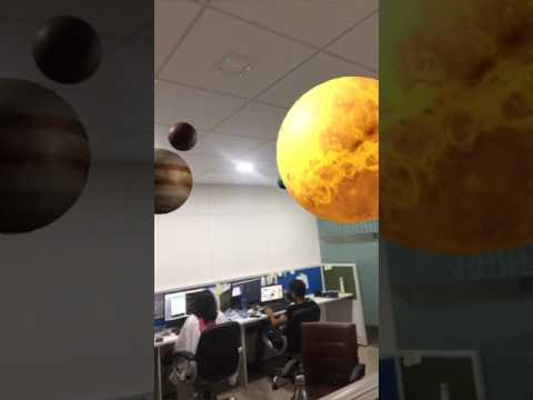 Solar System Mixed Reality at Param Labs office