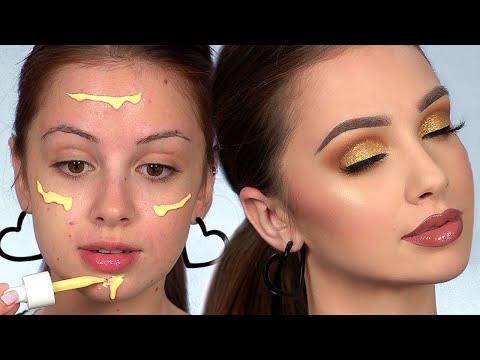 GOLD Smokey Eye Makeup Tutorial | Full Face of First Impressions thumbnail