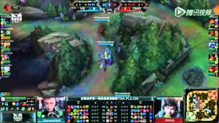Vici (Dandy Rengar) VS OMG (Cool Xerath) Game 2 Highlights - 2015 Spring LPL W1D2