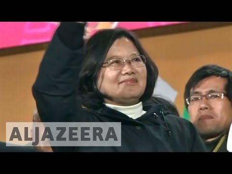 Approval ratings fall for Taiwan's first female president