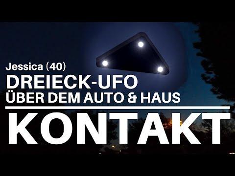 KONTAKT - Jessica's NAHBEGEGNUNG der 1. Art - DREIECK-UFO über ihrem Auto & Haus