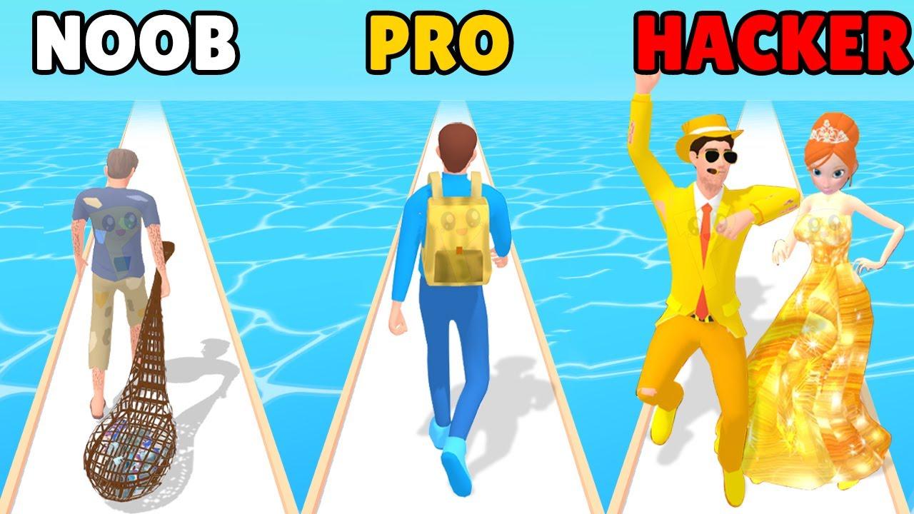 NOOB vs PRO vs HACKER in Garbage Runner