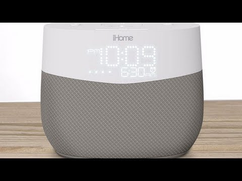 New iGV1 speaker: a radio alarm clock that integrates the Google Assistant and a smart device.