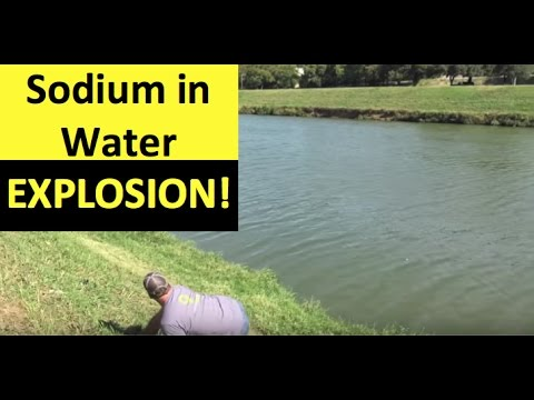 Sodium In Water Explosion | Chemical Reaction