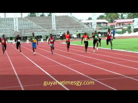 Rupert Perry wins 100m in 10.40 (National Seniors Championship, Leonora, Guyana)