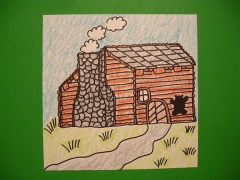 Lets Draw A Log Cabin
