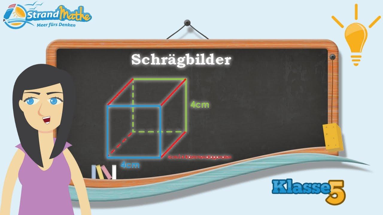 Schrägbilder zeichnen und verstehen || Klasse 5 ☆ Wissen - YouTube