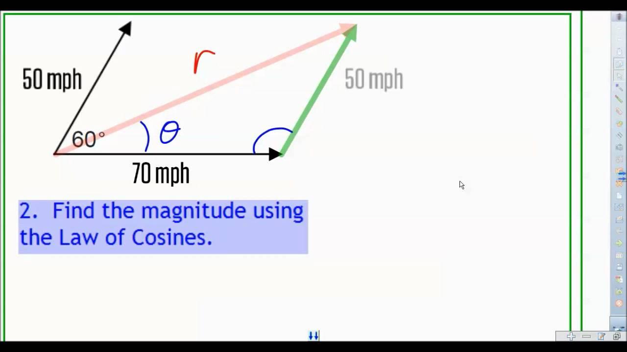 8 5 Non Perpendicular Vectors Part 1 Youtube Adding non perpendicular vectors