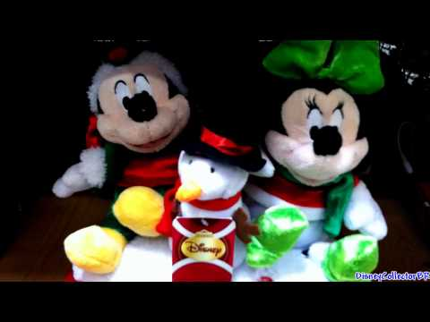 Mickey and Minnie dancing singing plush toys Christmas 2011