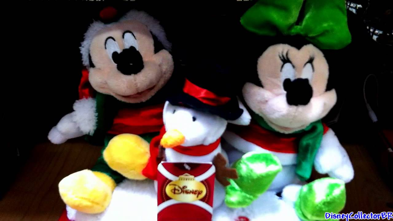 mickey and minnie dancing singing plush toys christmas 2011 - Christmas Plush Toys