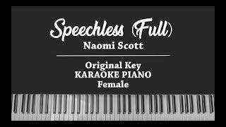 Speechless (Full) From Alladin (FEMALE KARAOKE PIANO INSTRUMENTAL COVER) Naomi Scott