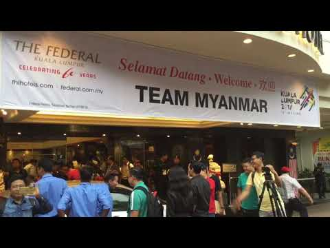 The Federal Kuala Lumpur Welcomes Team Myanmar For  SEA Games 2017