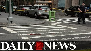 Half naked man in street seriously injured in MTA bus hit and run