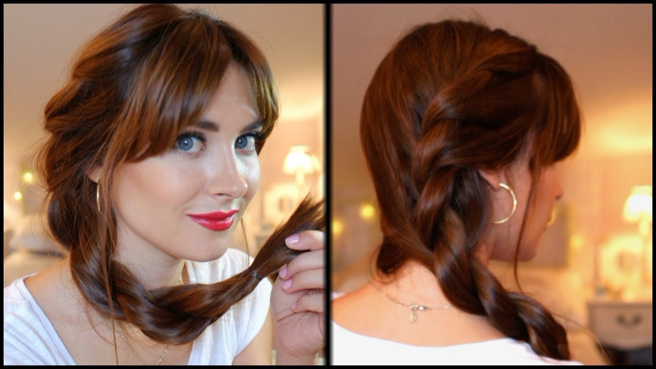 Peinado fácil para diario trenza retorcida paso a paso. Easy everyday  hairstyle twist braid , YouTube