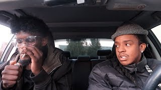 SMOKING A CIGARETTE IN THE CAR PRANK ON POUDII !!! **PRANK WARS**