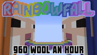 Minecraft: Rainbowfall 960 Wool An Hour (Minecraft 1.8 Wool Farm)