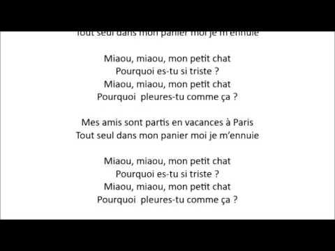 MON PETIT CHAT (traditionnel)