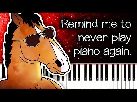 Why is BoJack Horseman SO HARD on piano?