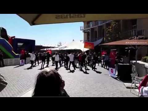 Flash mob in Melrose Arch, South Africa