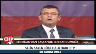 SELİN SAYEK BÖKE HALK HABER TV 10/02/2017