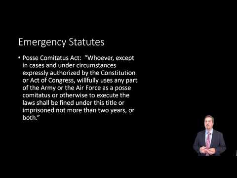 Constitutional Law: Executive Emergency Powers