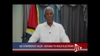 No Confidence Vote Valid - Guyana To Hold Elections