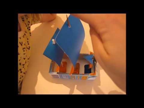 "Поделка ""Кораблик"" из коробочки детского сока"