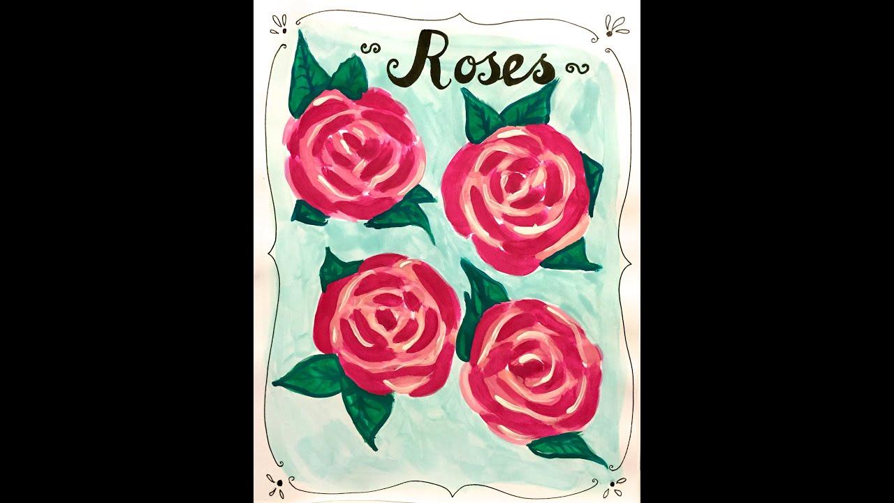 Como Pintar Rosas en Acuarela - YouTube