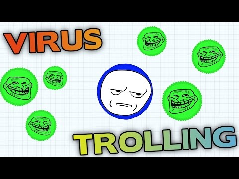 AGAR.IO HOW TO HIT VIRUS – TROLLING PEOPLE WITH SMALL CELLS