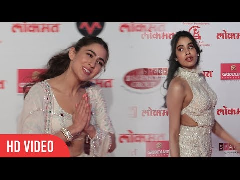 Best Debutant Of 2018 Jhanvi Kapoor & Sara Ali Khan At Lokmat Most Stylish Awards 2018