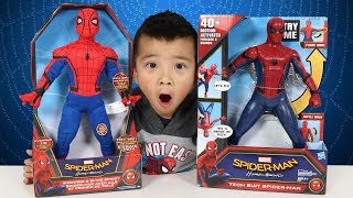 NEW Spider Man Homecoming Toys Unboxing Tech Suit And Webwing Spidey Ckn Toys