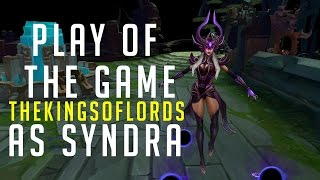 League of legends : New replay system? Play of the game : Syndra - Overwatch style
